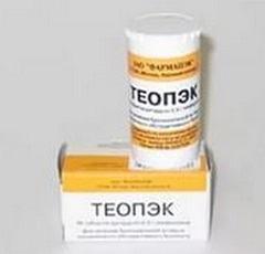 Известные аналоги Теопэк, помощь при передозировке