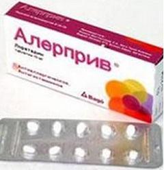 Когда возможна передозировка Алерприв, способ применения