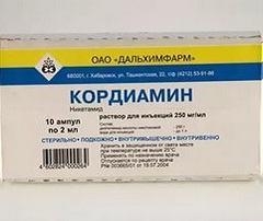 Отмечавшееся побочное действие раствора Кордиамин
