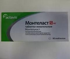 Отмечавшиеся побочные проявления таблеток Монтеласт