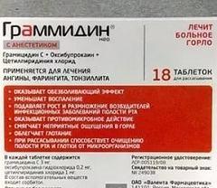 Периодичность рассасывания таблеток Граммидин Нео