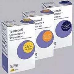 Тевакомб аэрозоль: базисное лечение астмы, аннотация