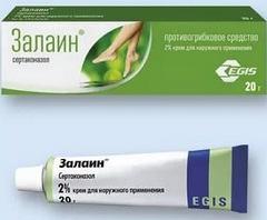 Залаин крем: эффективно устраняем грибок кожи