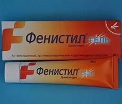 Фенистил гель: местная помощь при аллергии, аннотация