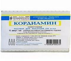 Кордиамин раствор: помощь при анафилактическом шоке, аннотация