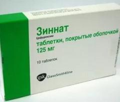 Встречавшиеся негативные проявления таблеток Зиннат
